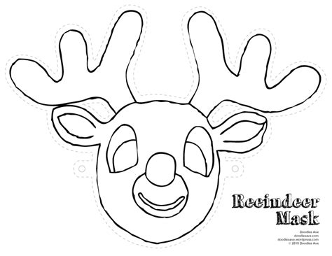 reindeer mask coloring page star wars coloring sheets doodles ave