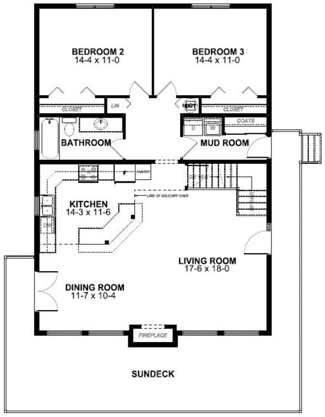 Vacation House Floor Plan by Floor Plan Of A Frame Vacation House Plan 99961