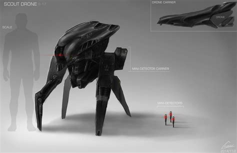 design concept gallery scout drone design concept art by nobody00000000 on deviantart
