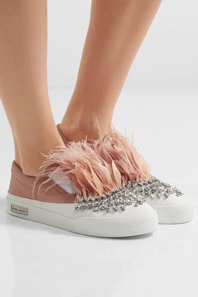 Miu Miu Doble Slipon miu miu embellished satin slip on sneakers net a porter