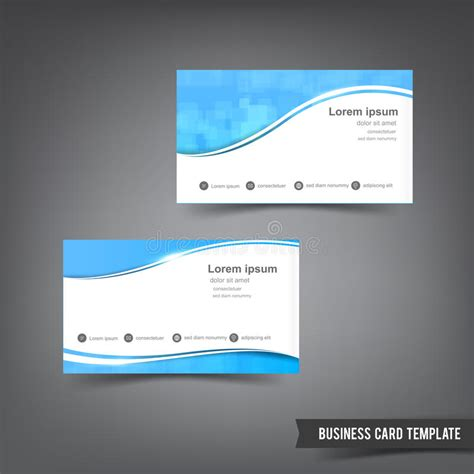 ecommerce business card template business card template set clear style blue and curve wave