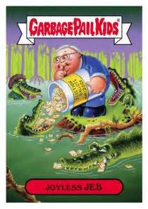five presidential candidates get the garbage pail kids