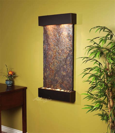 slate wall mounted hanging water features water