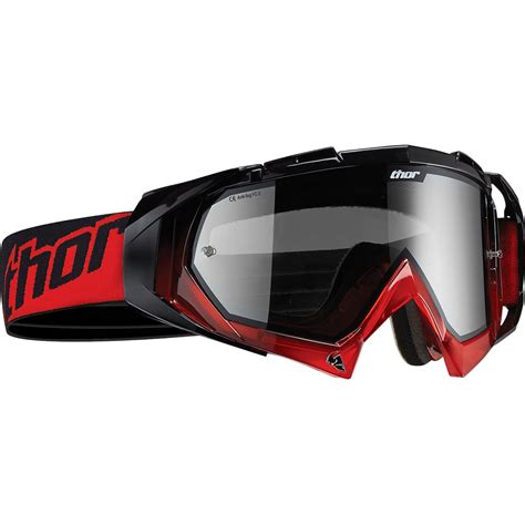 Thor Hero Red Black Motocross Goggles Thor Ghostbikes Com