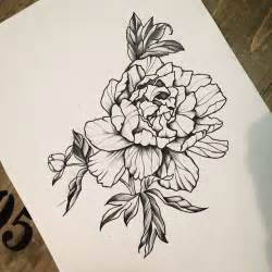 flower tattoo drawings i want to tattoo this peonyflower for any info please