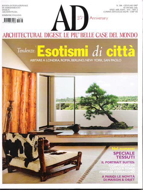 architecture advertising publication on ad architectural digest carola vannini