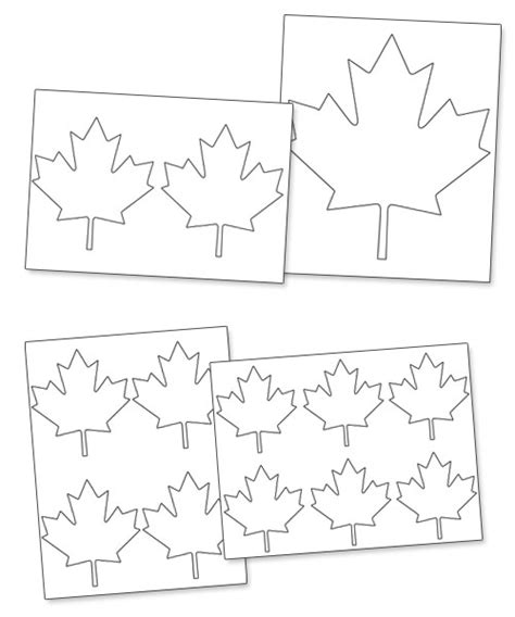 maple leaf printable template free printable maple leaf pattern printable treats
