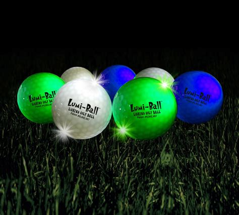 lumiball led lighted golf balls the green head