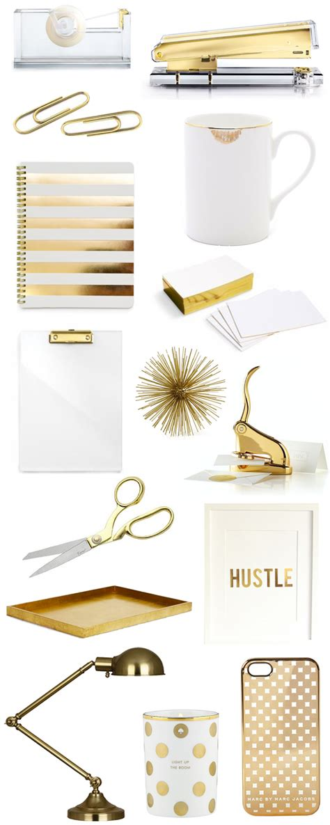 Gold Office Accessories Bright And Beautiful Chicago Gold Desk Accessories