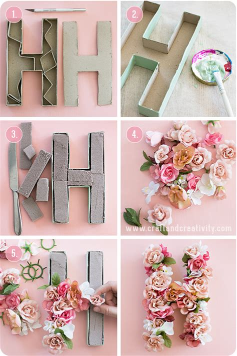 Do It Yourself Paper Crafts - pappbokst 228 ver med blommor paper mache letters with