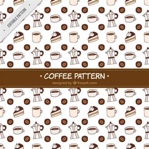 vector pattern generator free coffee maker pattern and hand drawn sweets vector free