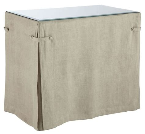 wisteria linen table skirt products i
