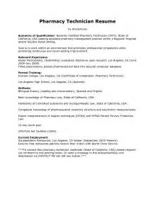 Hospital Pharmacy Technician Sle Resume by Sle Resume For Pharmacy Technician Pharmacy Technician Resume Sle Resume For Pharmacy