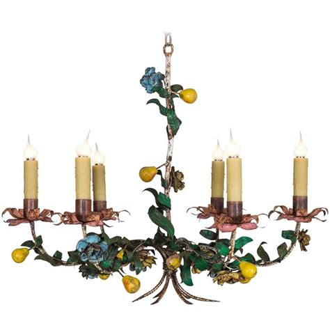 Whimsical Chandeliers Whimsical Vintage Italian Tole Chandelier Circa 1920 At 1stdibs