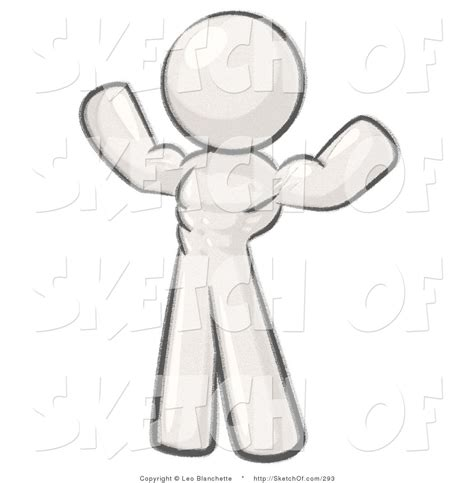 define sketch drawing of a weight lifter flexing his muscles and