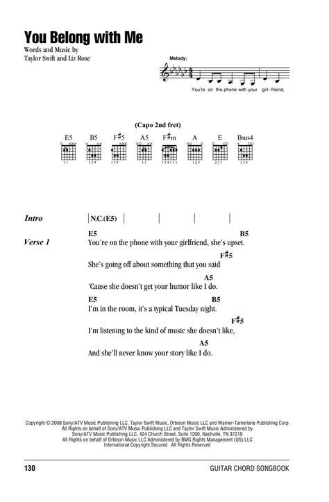 you belong with me guitar tutorial you belong with me by taylor swift guitar chords lyrics