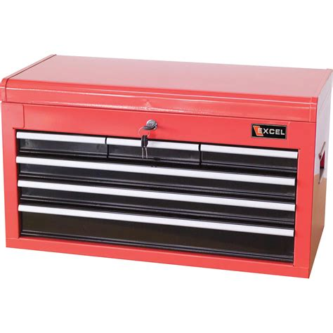 6 drawer tool box excel tool chest 26in 6 drawers model tb2040bbsa red