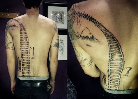 train track tattoo travel tattoos taken by the wind