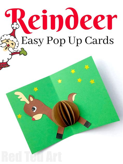 Easy Pop Up Card Templates by 3d Reindeer Card Diy Ted S