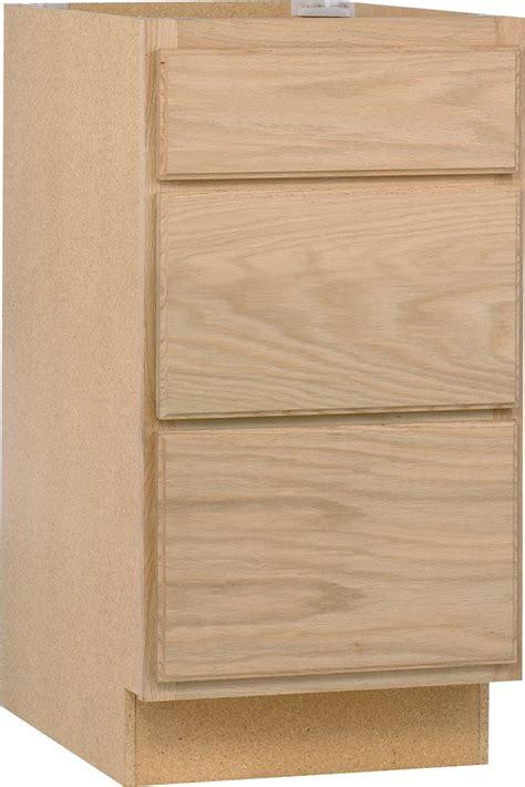 18 inch base cabinets unfinished unbranded unfinished oak 18 inch drawer base cab the