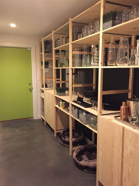 scaffali ivar ikea my mudroom pantry update using ikea ivar storage system