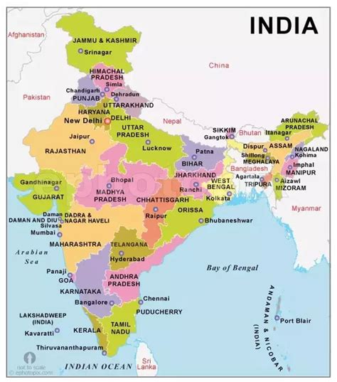 India Physical Map Outline A4 Size by Why Is India Often Referred To These Days As South Asia