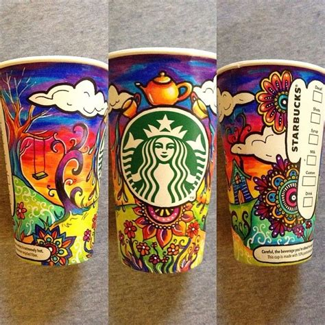 cup designs starbucks to feature an original crowd sourced artwork on its reusable plastic cups popsop