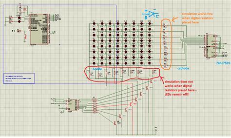 bjt transistor led using bjt transistors as switch for 8x8 led matrix display