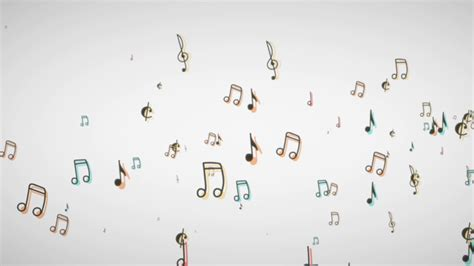 pattern music youtube music notes floating from the side white background