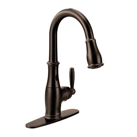 moen single handle kitchen faucet oil rubbed bronze