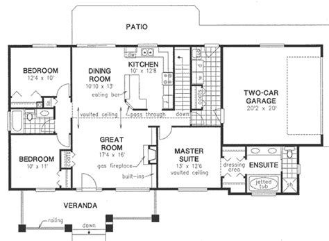 vaulted ceiling floor plans vaulted ceilings house plan hunters