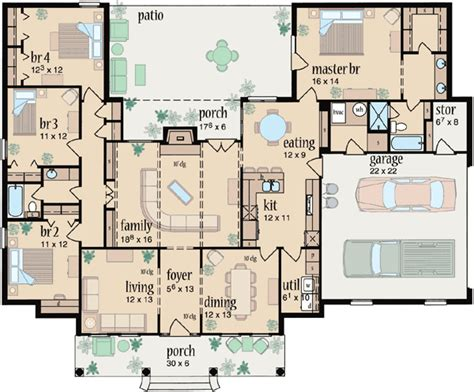 4 Bedroom Ranch Style House Plans by Ranch House Plans With 4 Bedrooms Ranch House Plans With