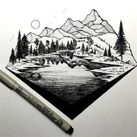 Drawing Mountains by 25 Best Ideas About Mountain Drawing On