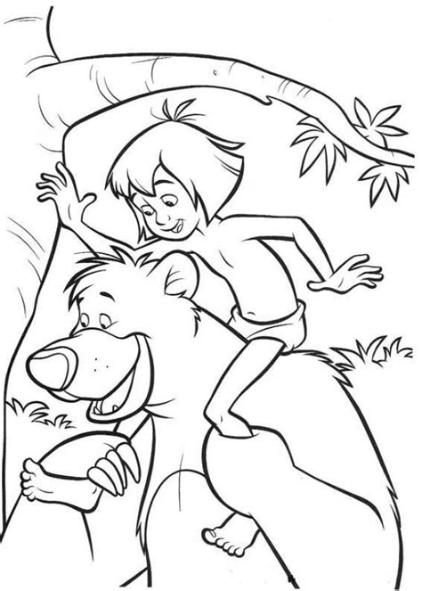 jungle book coloring page az coloring pages