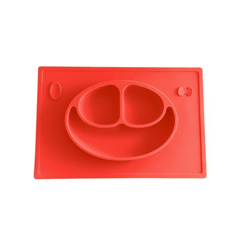 Silicone Plate Placemat Pinguin drop shipping happy mat one silicone placemat plate on tojto