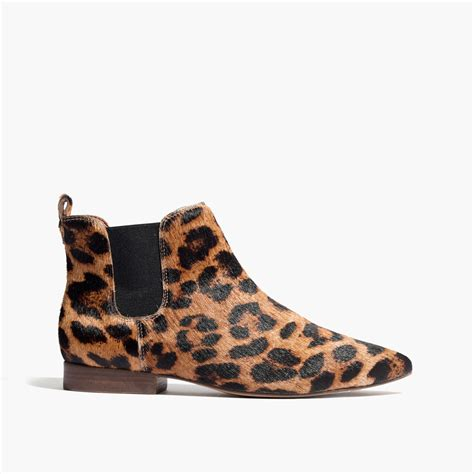 leopard shoes madewell the nico boot in leopard in brown lyst