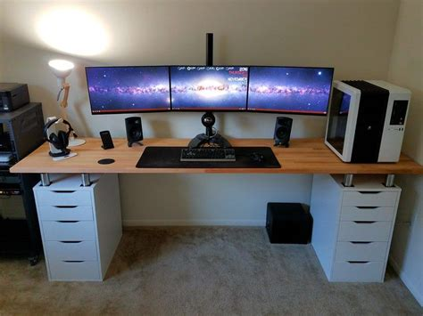 desk gaming setup best 25 gaming desk ideas on