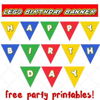 Lego Party Printables Part 2 Birthday Banner Keeping It Real Lego Happy Birthday Banner Template