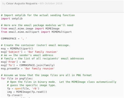 format email python sending email by smtp with python codepad