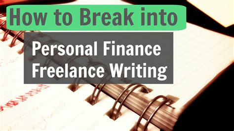 how to into personal finance freelance writing money