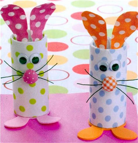 Toilet Paper Easter Bunny Craft - a toilet paper roll crafts easter bunny dump a day