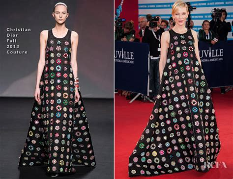 Catwalk To Carpet Cate Blanchett Carpet Style Awards by Cate Blanchett In Christian Couture Blue