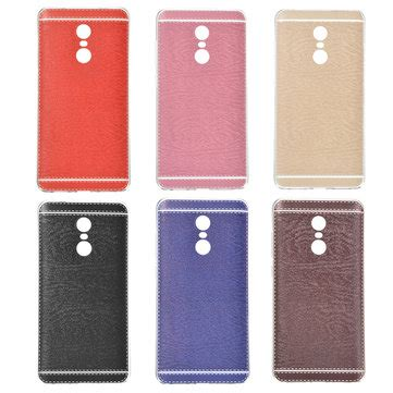 Slim Redmi 4x With Leather Texture ultra slim silicone embossed pu leather back cover