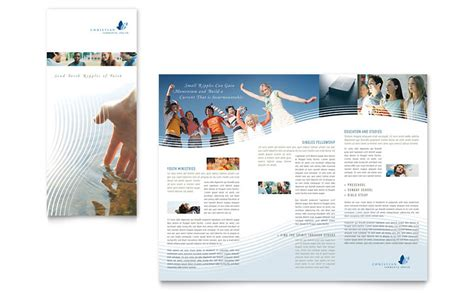 christian ministry tri fold brochure template word