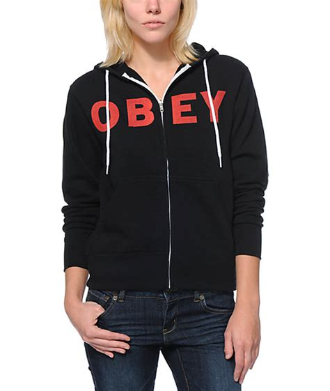 Jaket Zipper Hoodie Sweater Obey 1 Herocollection obey rocket to nowhere black zip up hoodie at zumiez pdp