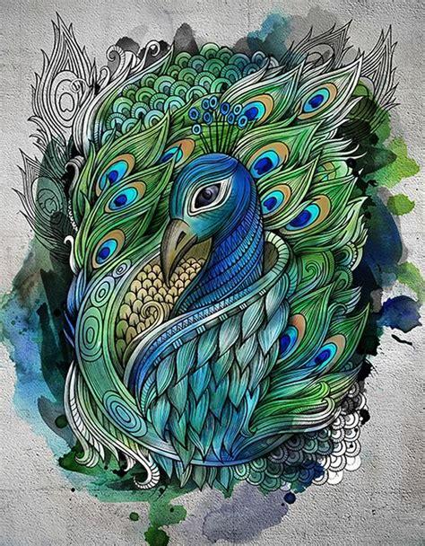 peacocks tattoo peacock by balabolka animal zentangles tangles doodles