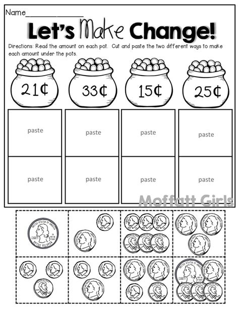 Touch Math Money Worksheets by Free Printable Touch Math Money Worksheets Touchmath