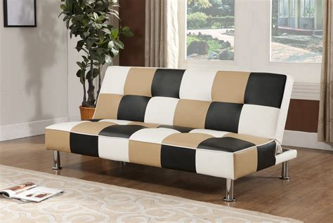 and white checkered sofa brand brown black white vinyl checkered klik klak