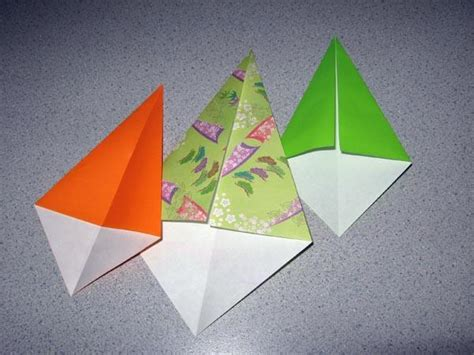 Origami Kite Base - how to make a kite base slideshow