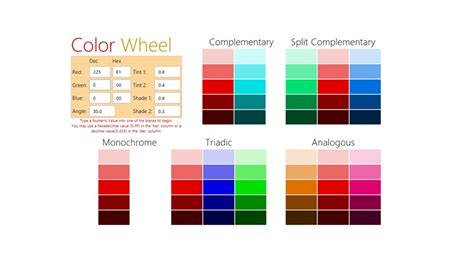 color palette generator interior design color wheel a color scheme generator for windows 8 and 8 1